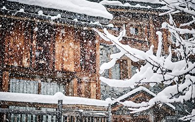 Snowfall in Meribel